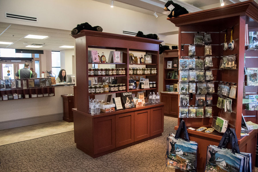 Book store and gift shop displays