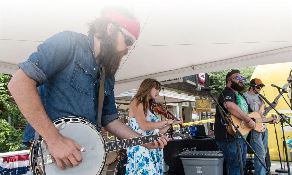 bluegrass band at street festival