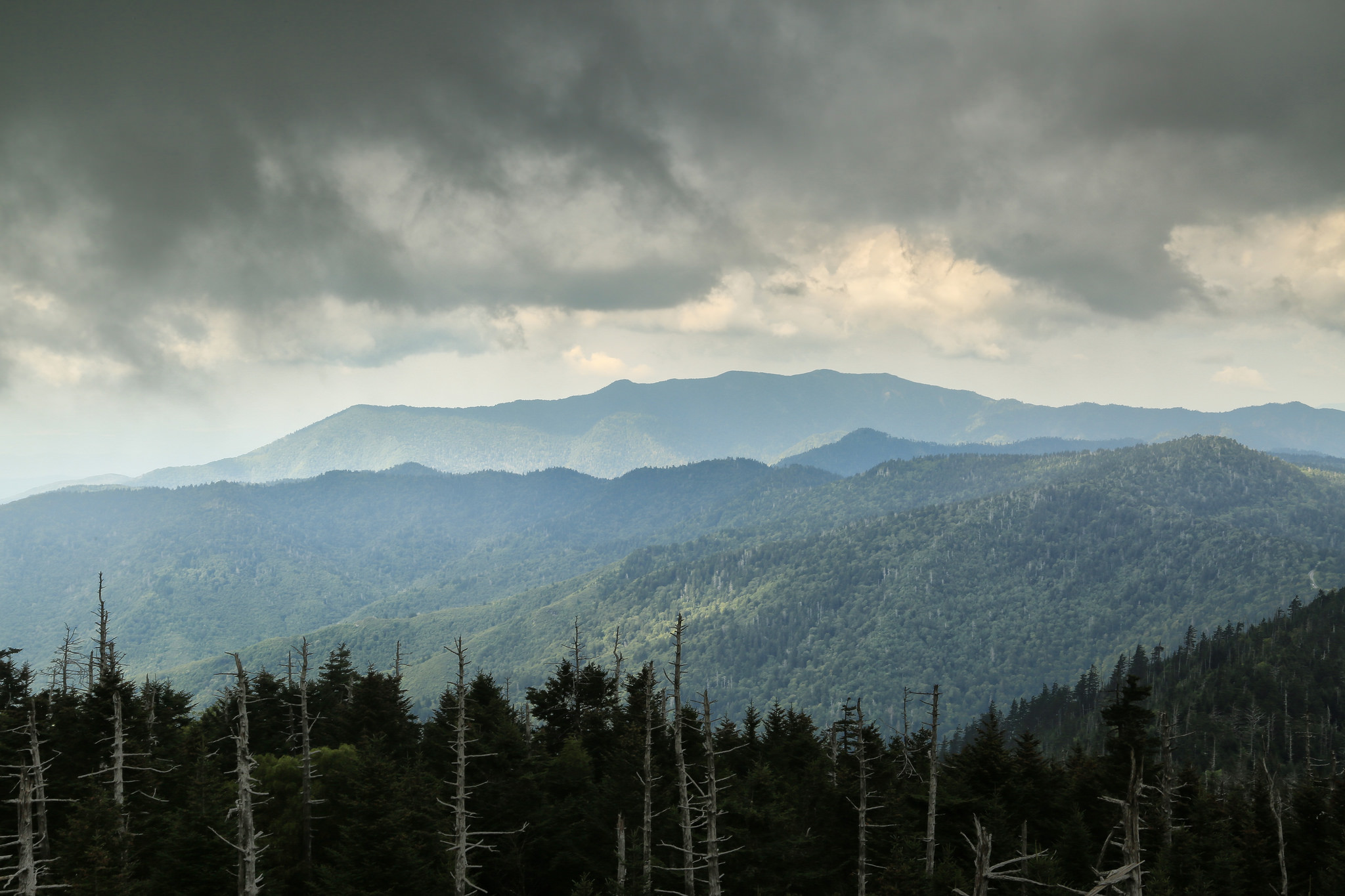 Clingmans Dome Tower in the Great Smoky Mountains National ...