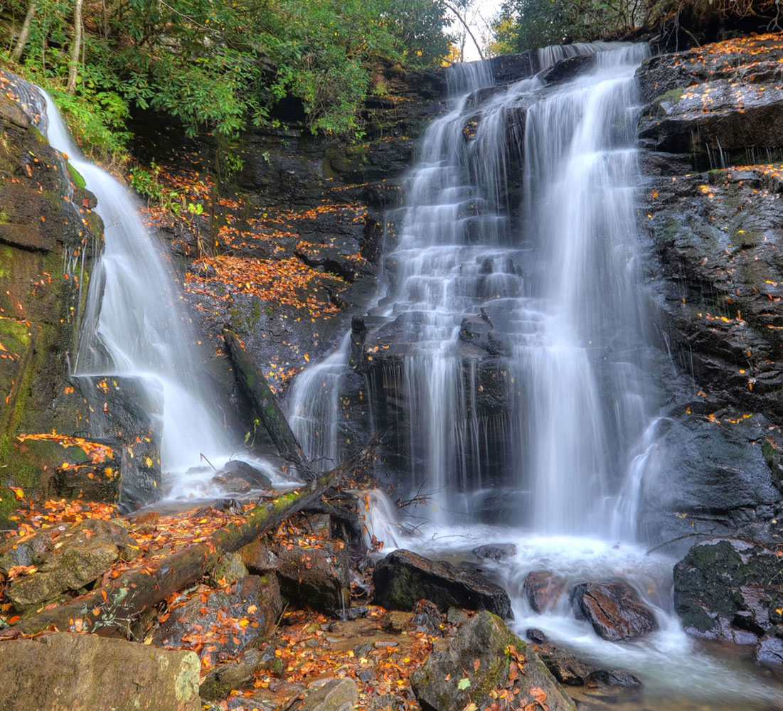 Soco Falls – Two Falls, Too Beautiful