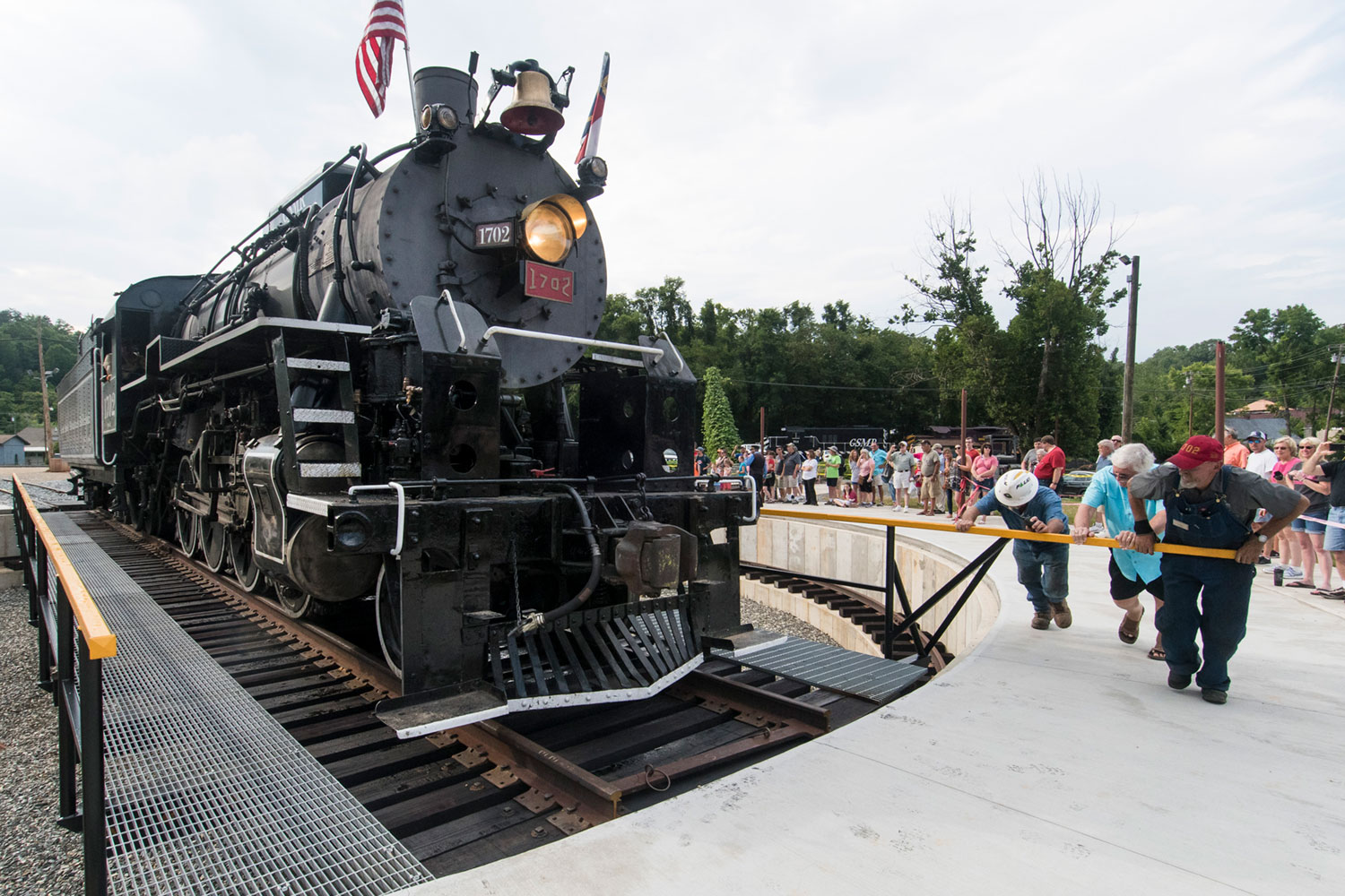 In Bryson City, Three People Pushed a 177-ton Locomotive
