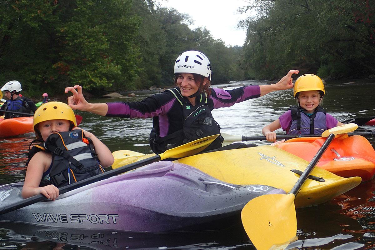 kids kayaking class