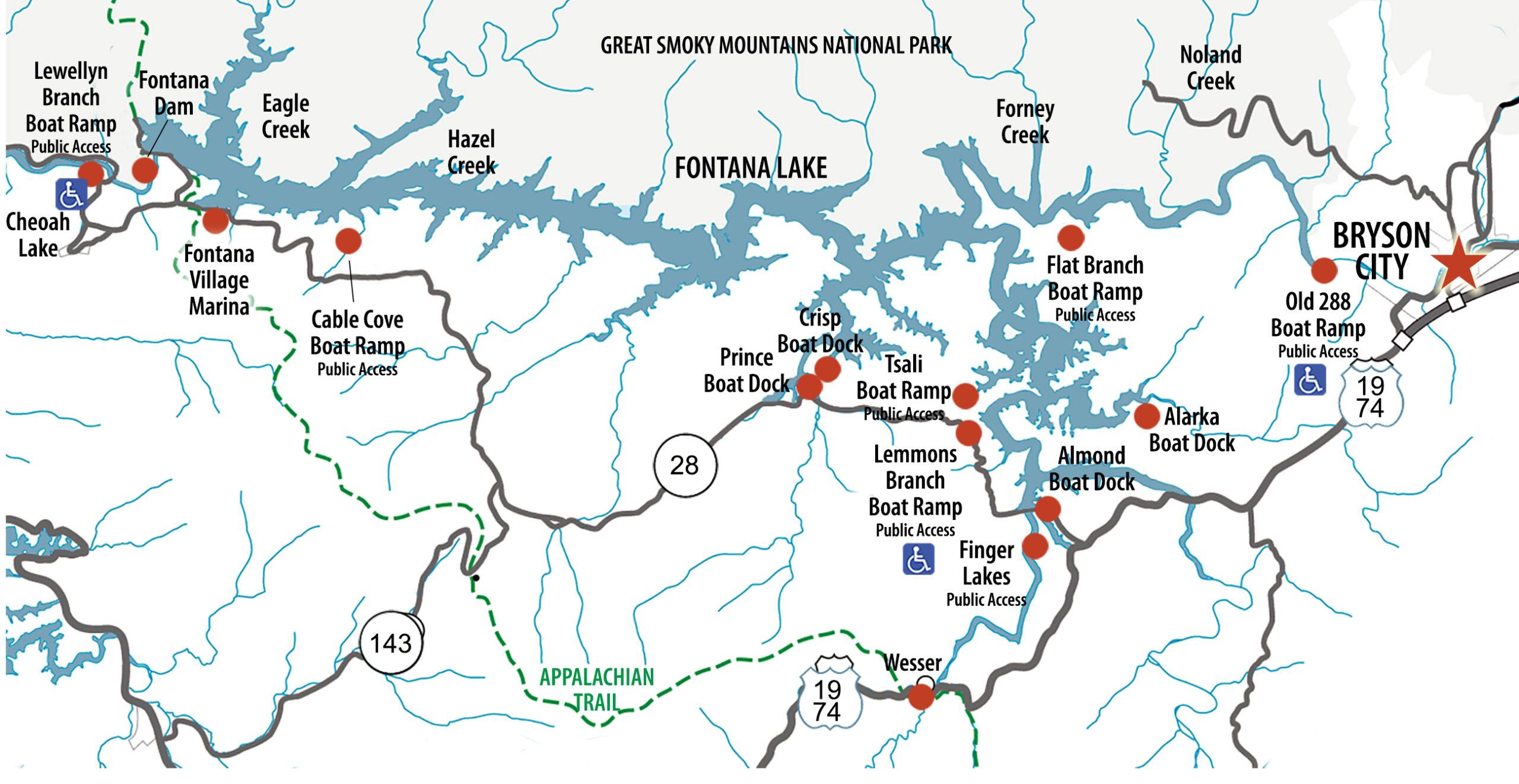Fontana Lake boat access