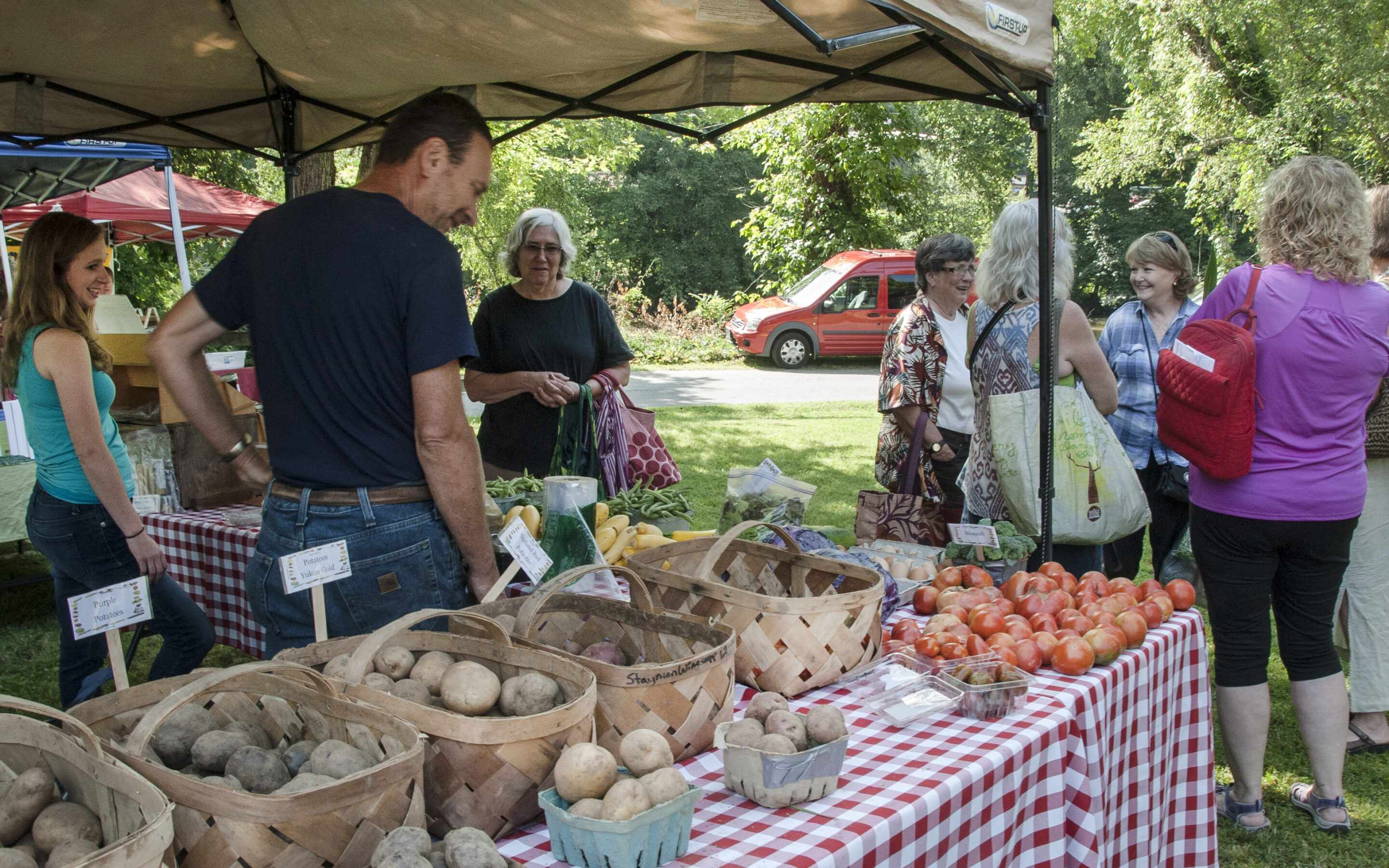On Weekends, Swain County's Growers and Artisans Bring Their Goods to Town.